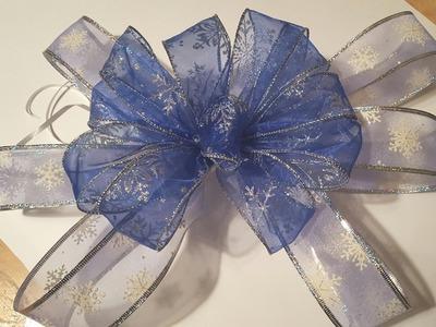 How to Make  a Double Bow - GiftBasketAppeal