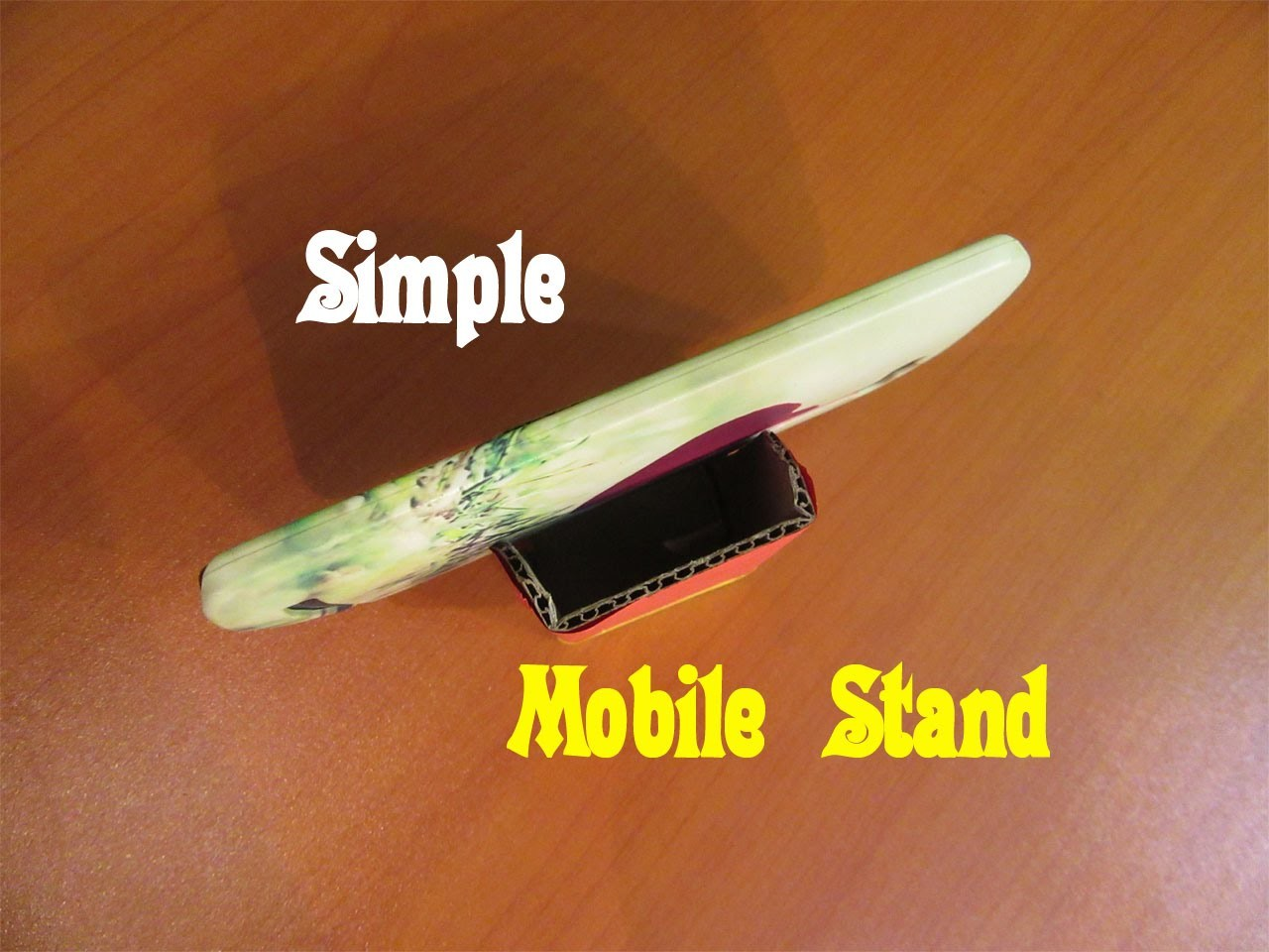 How to Make a Simple Mobile Phone Stand - Easy Tutorials