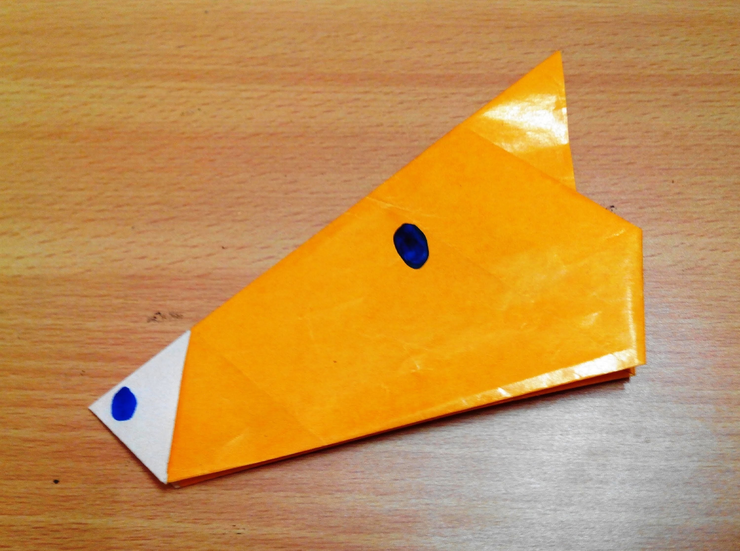 How to make an origami horse face step by step.