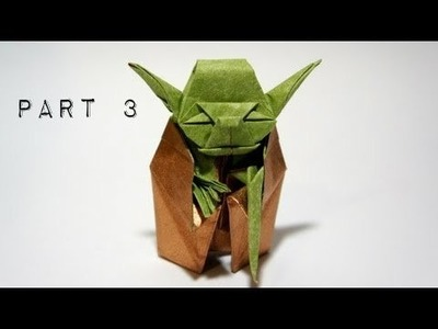 How to Make Jedi Master Yoda Origami Part 3