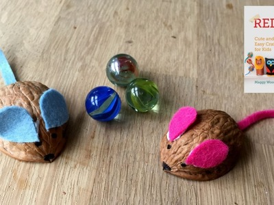 How to Make Walnut Mice - Cute Crafts for Kids