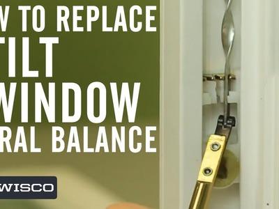 How to Replace a Tilt Window Spiral Balance