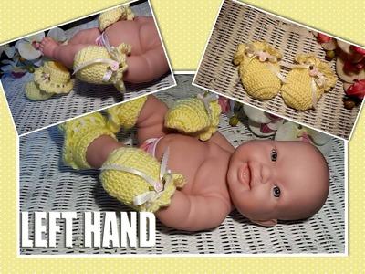 LEFT HAND~Glama's Crocheted Newborn Baby Mittens