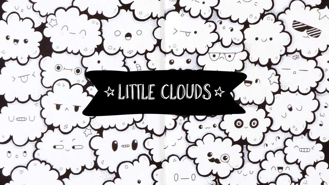 Little Clouds ~ Doodle [Full Page Doodle]