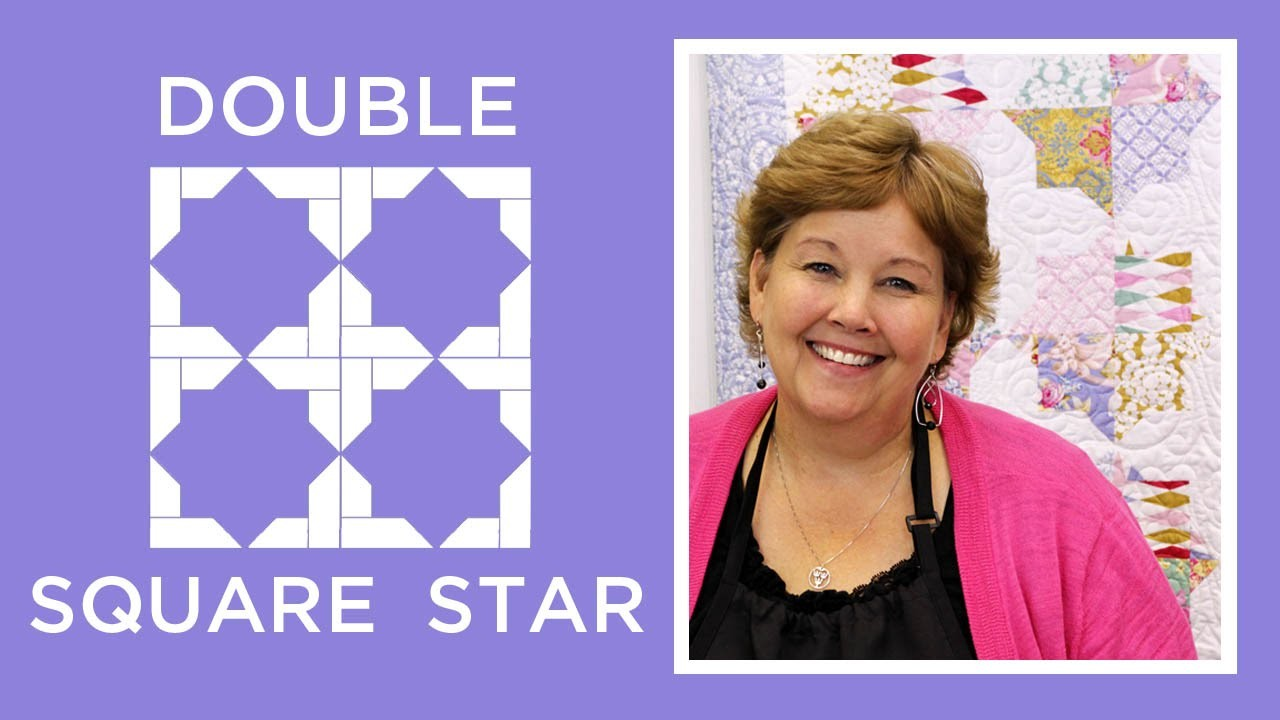 Make a Double Square Star Quilt with Jenny