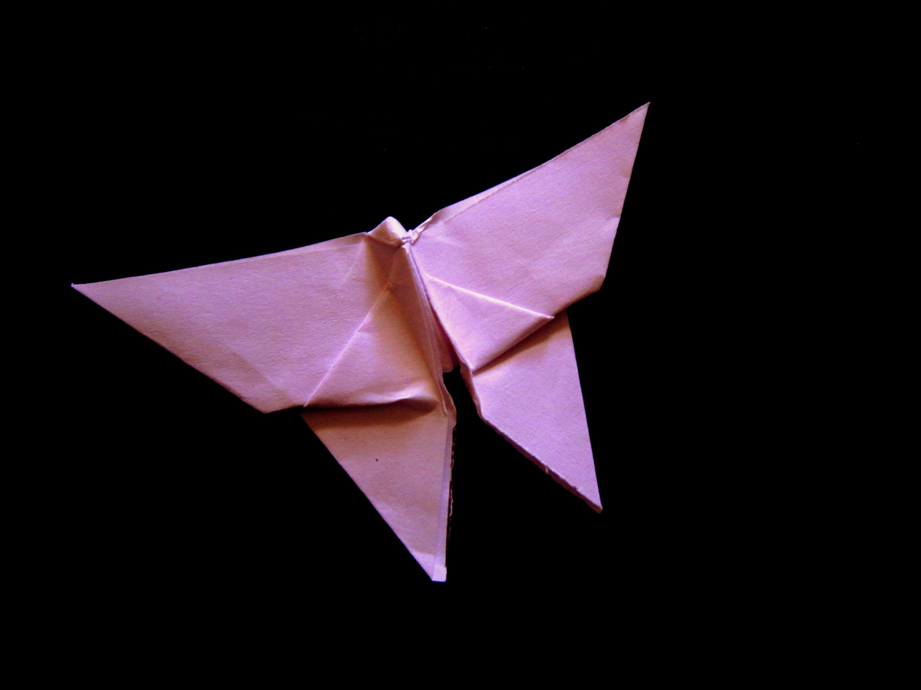 Making of an Origami butterfly