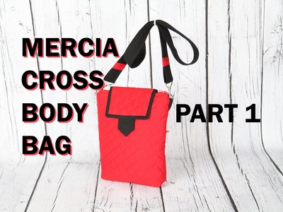 Mercia cross body messenger bag - Quilted with zip closure.DIY bag VOL 28a