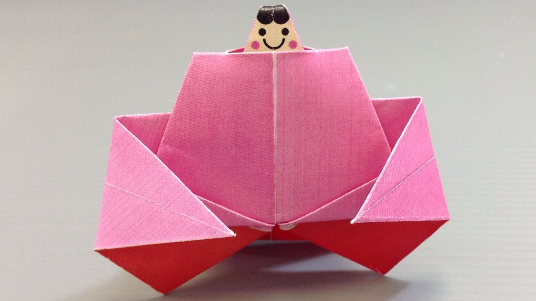 Origami Doll Festival Hinamatsuri Emperess - Print at Home