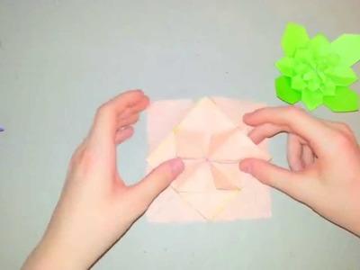Origami Tutorial - How To Fold A Hydrangea Pt. 3 (Shuzo Fujimoto)