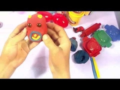 Play doh surprise eggs Angry birds mickey mouse cars spongebob disney craft dough
