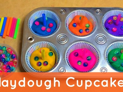 Playdough Cupcakes -  Preschool Activity For Fine Motor Development and Sensory Play