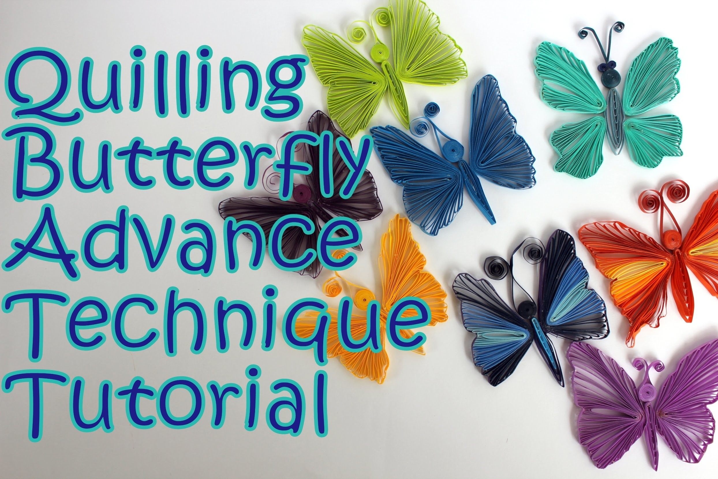 Quilling Butterfly | New Technique | Tutorial