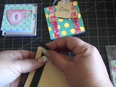 Suitcase Matchbox & 3x3 Cards with Envelopes.Tutorial
