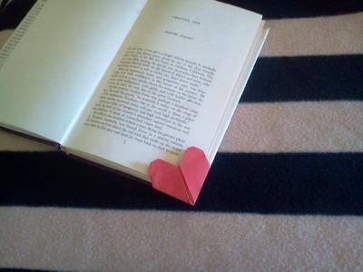 Valentine's origami heart bookmark - Corazon punto de libro
