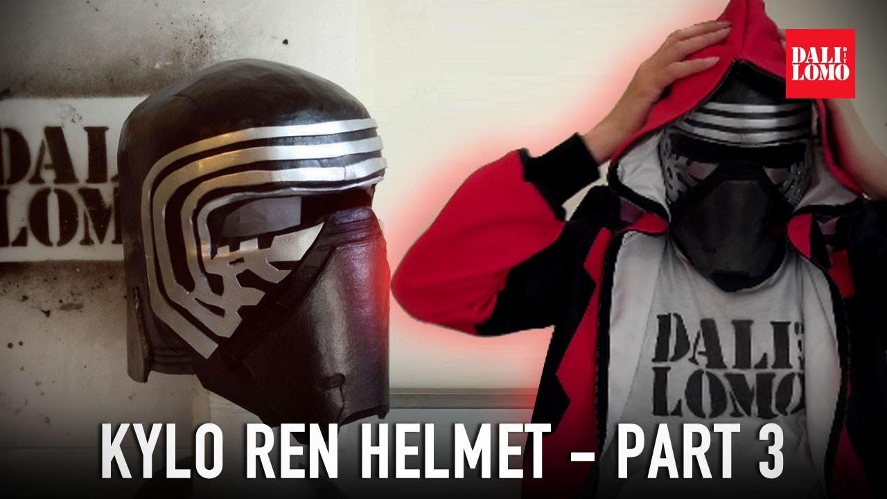 #111: Kylo Ren Helmet Part 3 - Details & Paint | Star Wars 7 | Costume | How To | Dali DIY