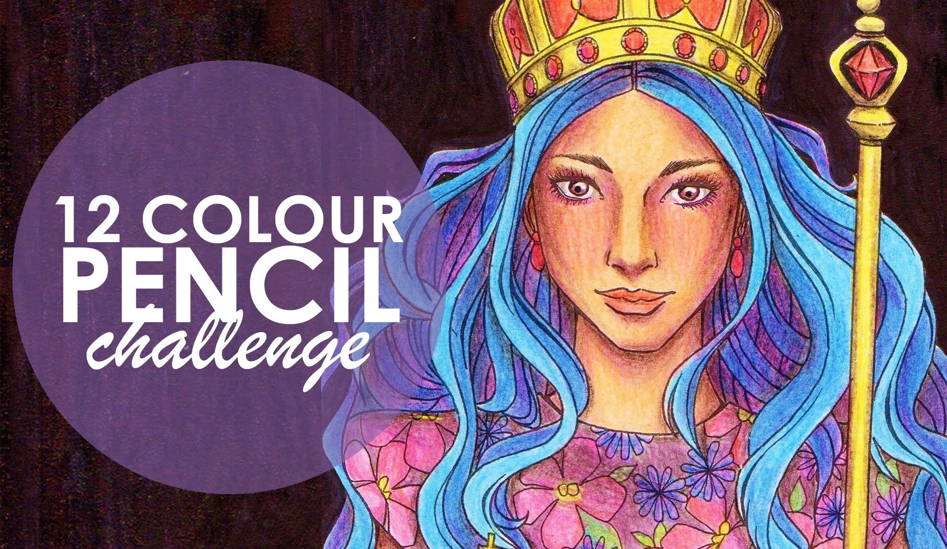12 Coloured Pencil Challenge