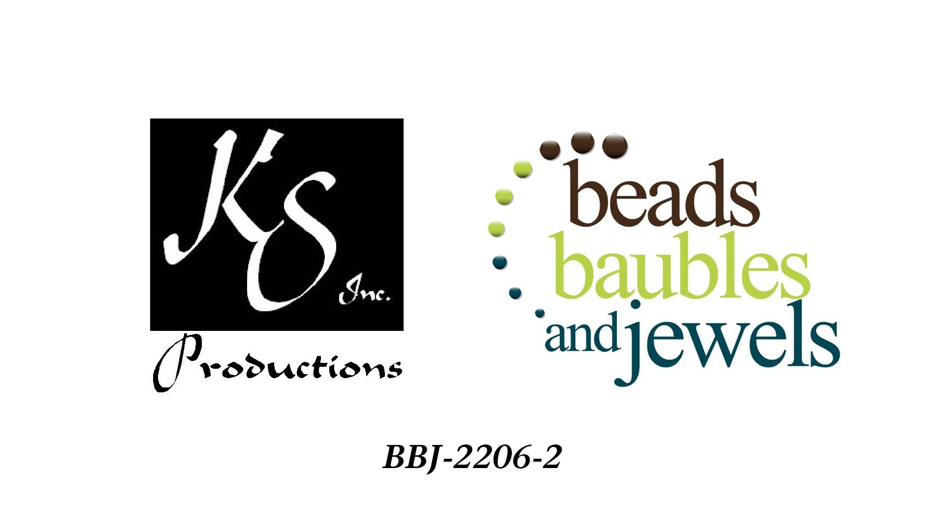 2206-2 On Beads, Baubles & Jewels, Kathie Hacker makes a glass bead bracelet