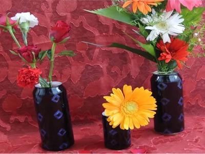 Best of Waste- Flower vase out of cans