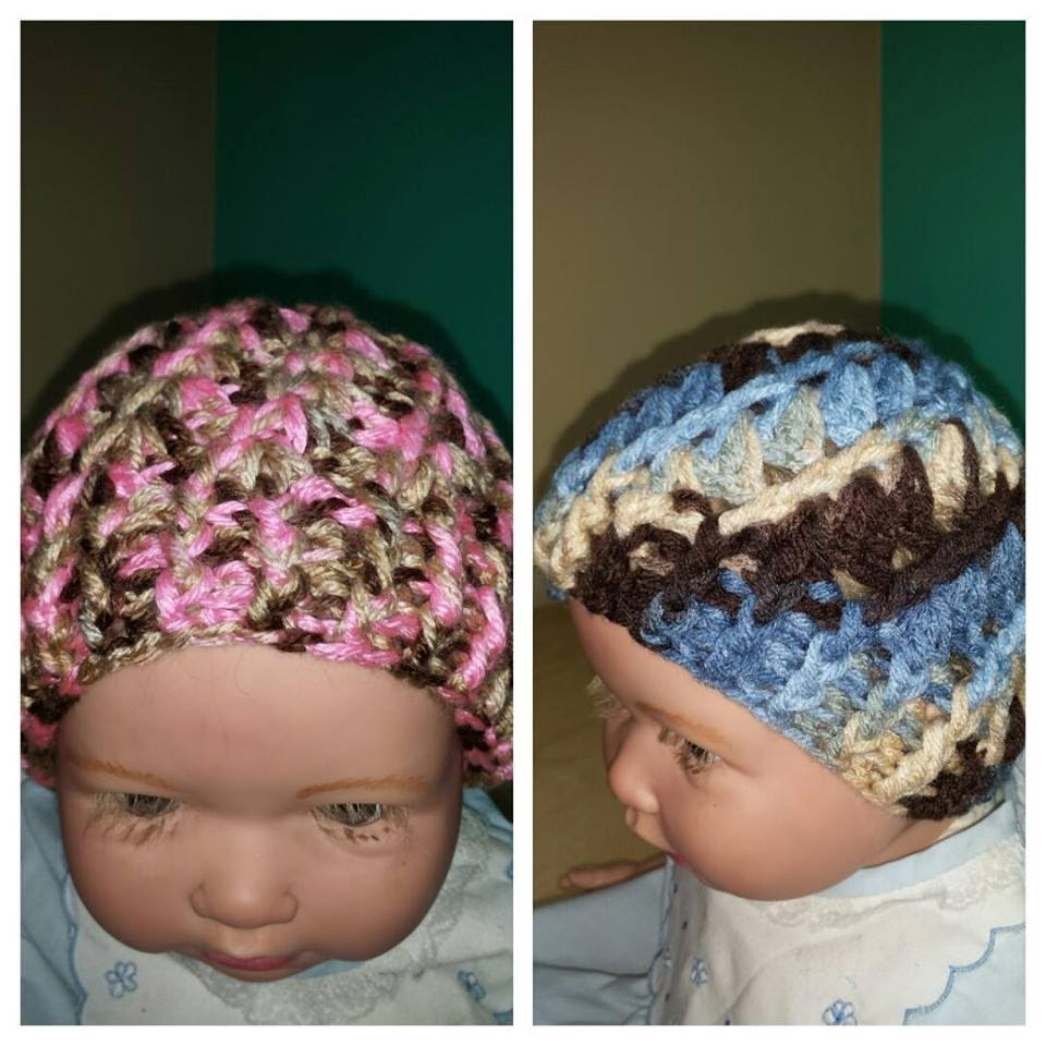 Crochet easy baby hat