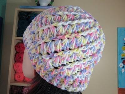 Crochet gorro facil para adulto