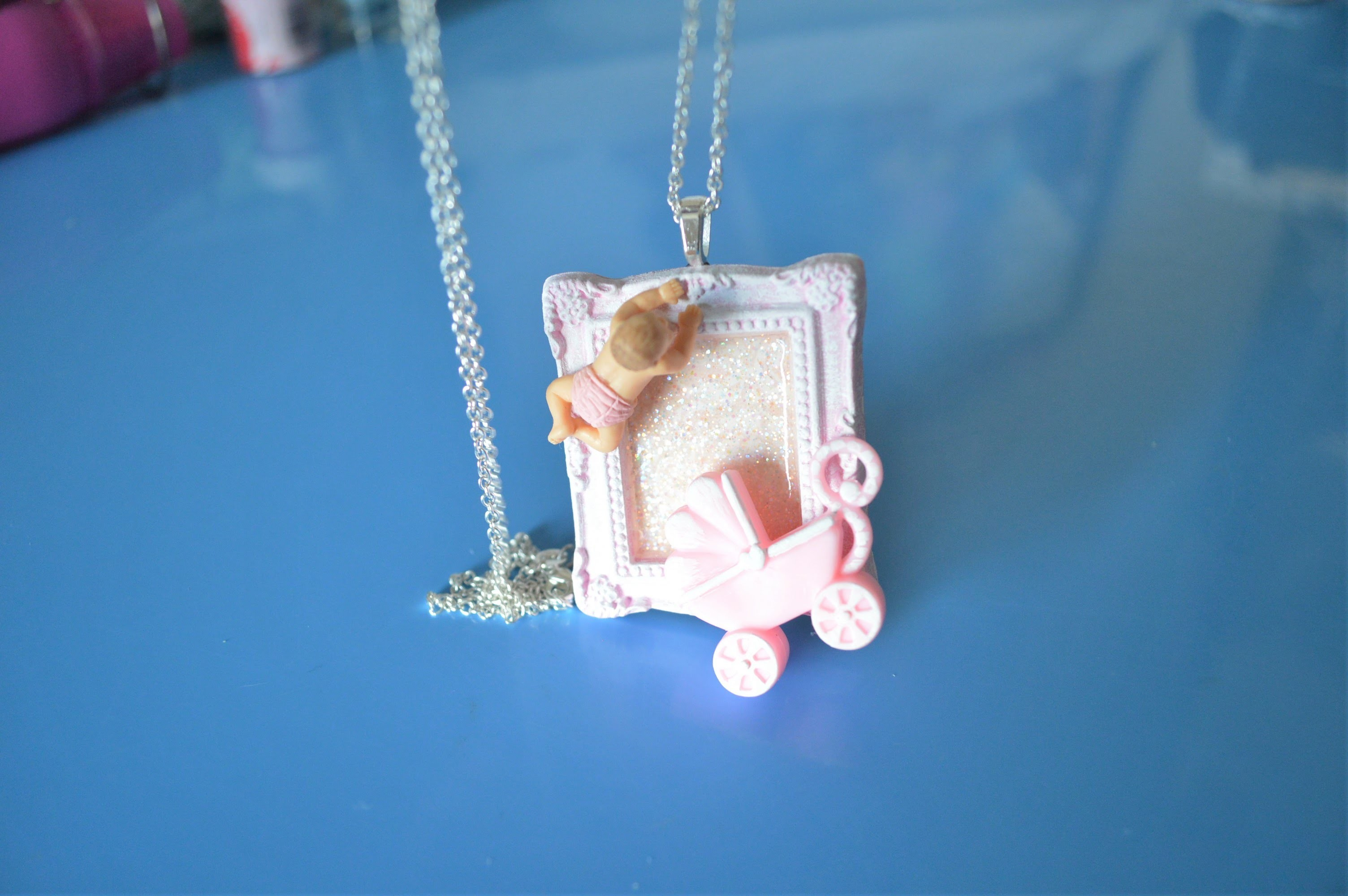 DIY Baby Girl Picture Frame Pendant from Ivanka's little treasures