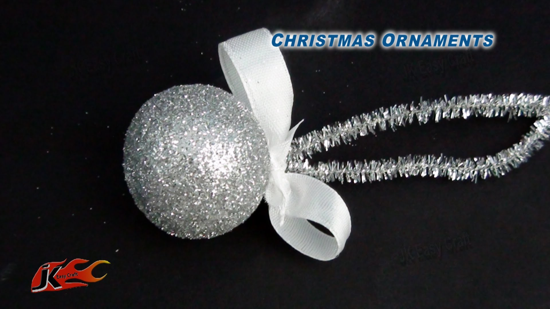 DIY Easy Christmas Ball Ornament   How to make   JK Easy Craft 093