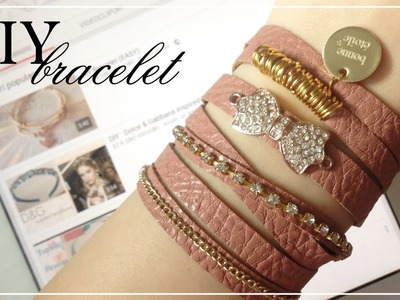 DIY : Fake leather bracelet