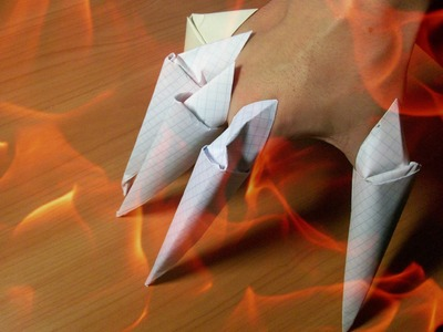 DIY Origami Paper Claws. How To Make Easy Paper Craft. Step by step Tutorial. Origami for beginners
