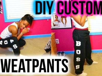 DIY Statement Sweatpants. HelloKeyy
