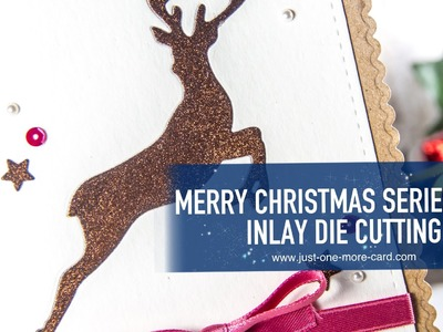 Elegant Christmas Card with Inlay Die Cutting