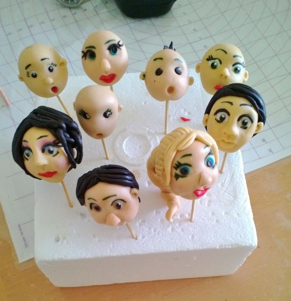 Hair for Gum paste Figures by VAOC