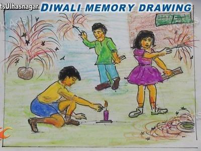 Happy Diwali Memory Drawing    How to Draw   JK Arts 754