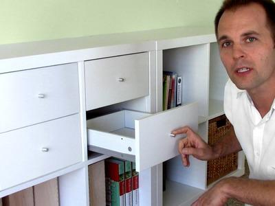 How to assemble Ikea bookshelf drawers - EXPEDIT KALLAX shelf
