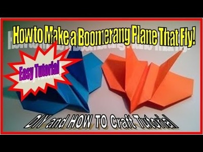 How to Make a Boomerang Plane   Fast Origami Tutorial