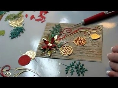 How to make a Clean and Simple Poinsettia on Bark