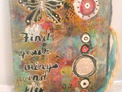 How to make a mixed media art journal. Art Collaboration with Ina.Part1