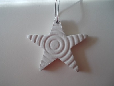 How to make a paper clay star ornament