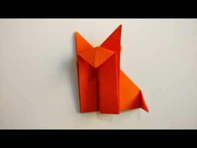 How to make an easy origami fox - Origami animals