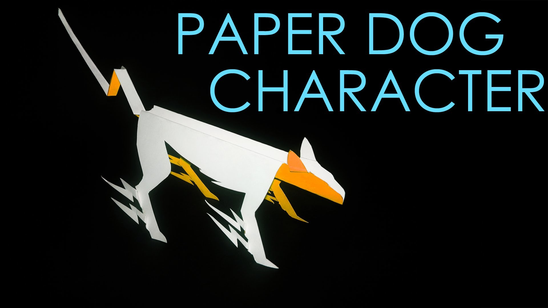 How to make an origami.Kirigami dog  VOLT  by vyouttar origami VM2