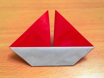 How to make an origami sail boat step by step.