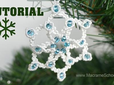 Knotted Snowflake Tutorial ★ Macrame School