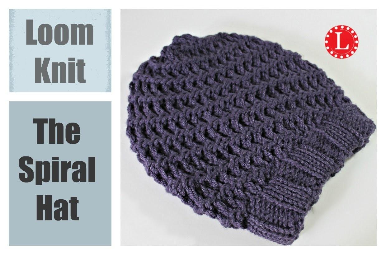 Loom Knit Hat : Super Easy Spiral