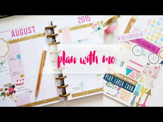My Happy Planner Aug Set Up-Nautical Theme, DIY Cover Page & DIY Stickers | Charmaine Dulak