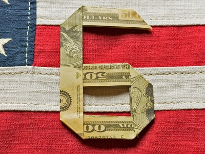 No. 6 Dollar Bill Origami - Number six as a money gift - Tutorial 6.10