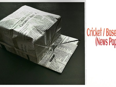 Origami Cricket. Baseball Hat - Newspaper !!