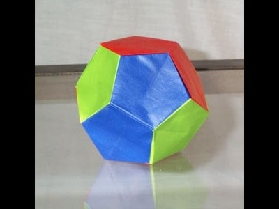 Origami dodecahedron instructions