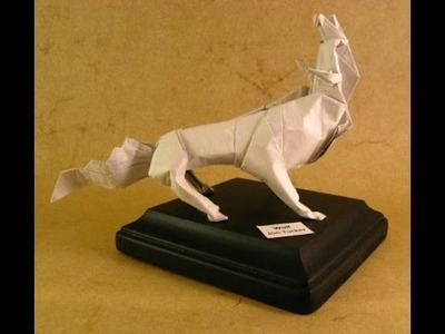 Origami  How to make origami wolf  Paper wolf