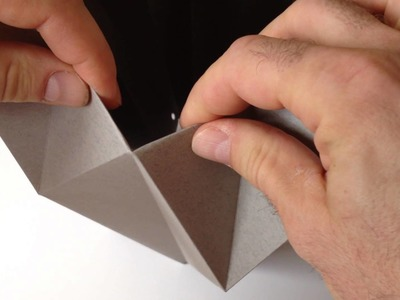Origami Light Made by You - folding small triangles - detail