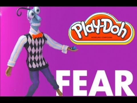 Play Doh craft . Fear costume from Inside out inspired by playdohcraftntoys