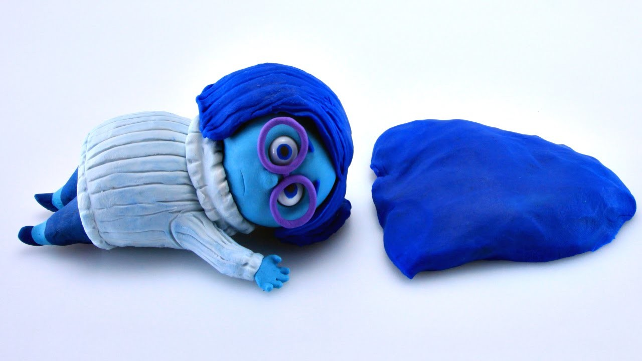 Play Doh SADNESS Stop Motion Inside Out! Disney Pixar Playdough Animación de Inside Out